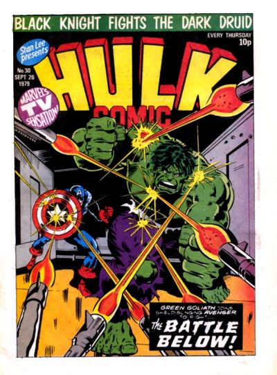 Cover for Hulk Comic (Marvel UK, 1979 series) #30