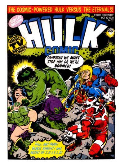 Cover for Hulk Comic (Marvel UK, 1979 series) #32