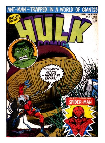 Cover for Hulk Comic (Marvel UK, 1979 series) #33