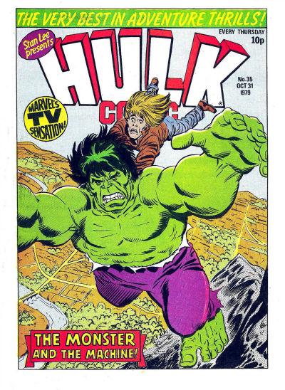 Cover for Hulk Comic (Marvel UK, 1979 series) #35
