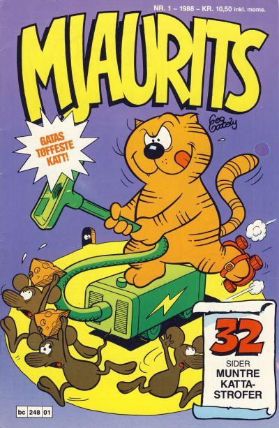 Cover for Mjaurits (Bladkompaniet / Schibsted, 1988 series) #1/1988