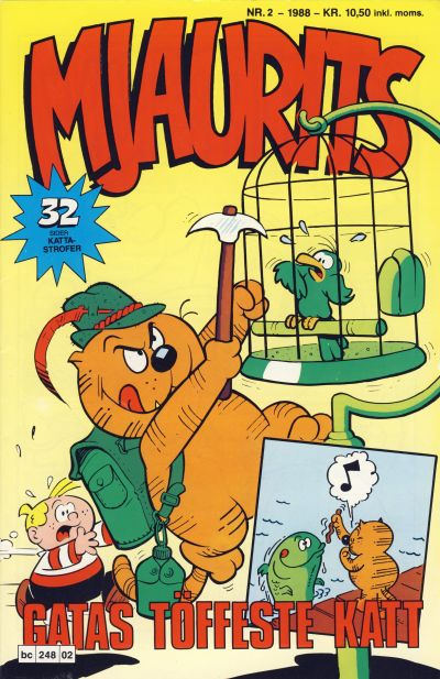Cover for Mjaurits (Bladkompaniet / Schibsted, 1988 series) #2/1988