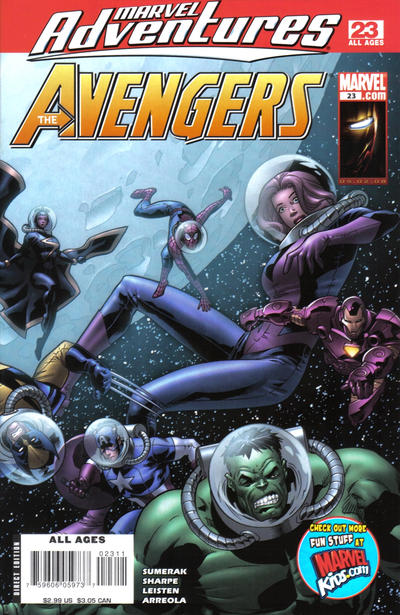 Cover for Marvel Adventures The Avengers (Marvel, 2006 series) #23