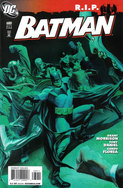Cover for Batman (DC, 1940 series) #680 [Tony Daniel Variant Cover]