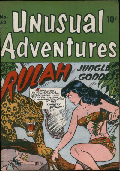 Cover for Unusual Adventures (Bell Features, 1949 series) #53