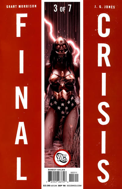 Cover for Final Crisis (DC, 2008 series) #3 [Sliver Cover]