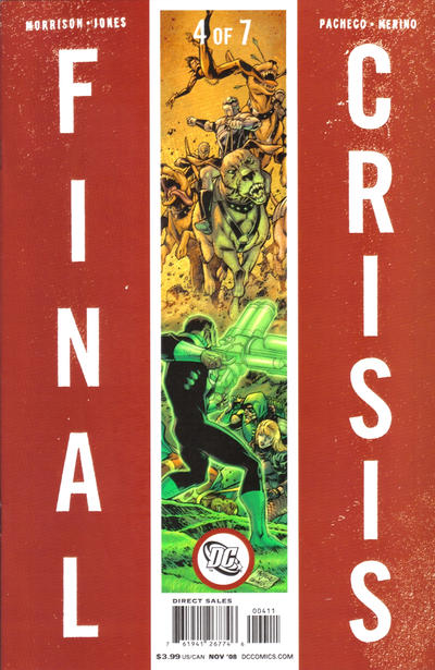 Cover for Final Crisis (DC, 2008 series) #4 [Sliver Cover]