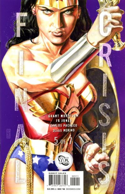 Cover for Final Crisis (DC, 2008 series) #5 [Sliver Cover]