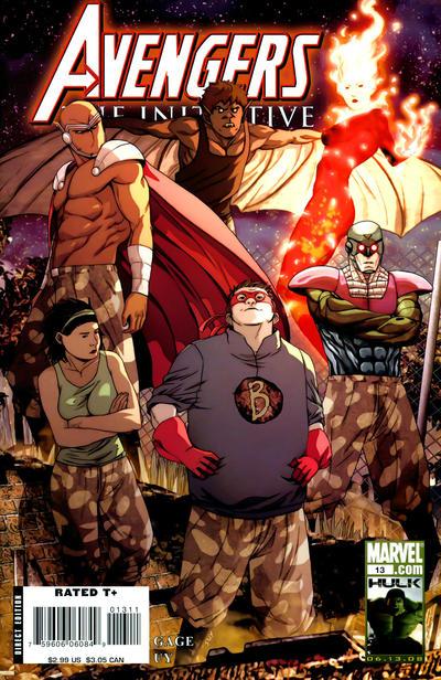 Cover for Avengers: The Initiative (Marvel, 2007 series) #13 [Skrull Variant]