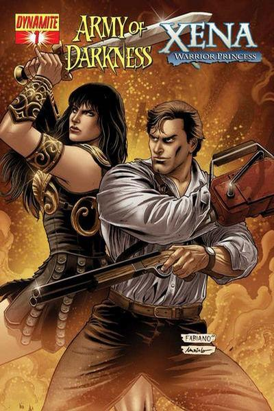Cover for Army of Darkness / Xena (Dynamite Entertainment, 2008 series) #1 [Fabiano Neves Cover]