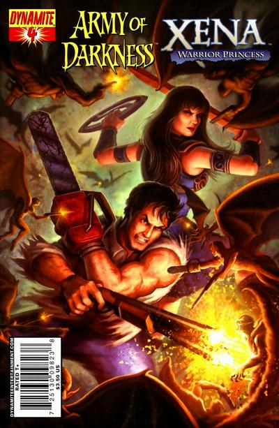 Cover for Army of Darkness / Xena (Dynamite Entertainment, 2008 series) #4 [Fabiano Neves Cover]