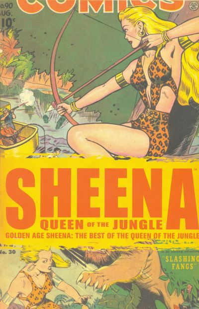 Cover for The Best of the Golden Age Sheena, Queen of the Jungle (Devil's Due Publishing, 2008 series) #1