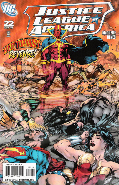Cover for Justice League of America (DC, 2006 series) #22