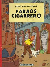 Cover Thumbnail for Tintins äventyr (Illustrationsförlaget, 1968 series) #5 - Faraos cigarrer