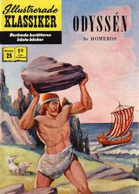 Cover Thumbnail for Illustrerade klassiker (Williams Förlags AB, 1965 series) #25 [HBN 165] (4:a upplagan) - Odyssén