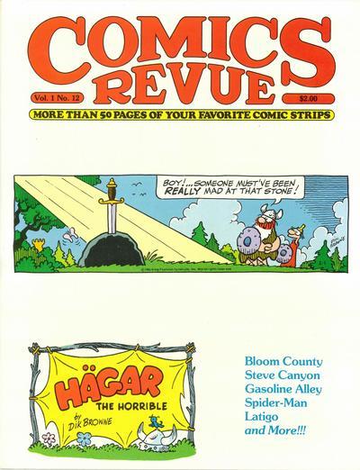 Cover for Comics Revue (Manuscript Press, 1985 series) #12