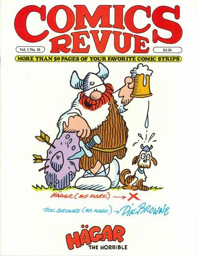 Cover for Comics Revue (Manuscript Press, 1985 series) #18