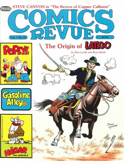 Cover for Comics Revue (Manuscript Press, 1985 series) #31