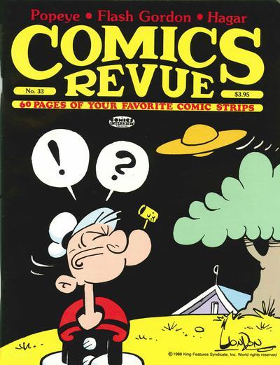 Cover for Comics Revue (Manuscript Press, 1985 series) #33