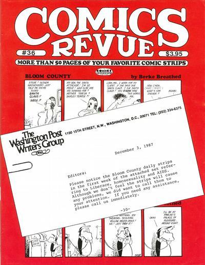 Cover for Comics Revue (Manuscript Press, 1985 series) #36