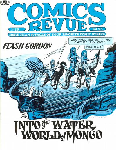 Cover for Comics Revue (Manuscript Press, 1985 series) #39