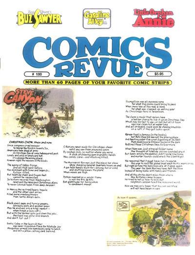 Cover for Comics Revue (Manuscript Press, 1985 series) #180