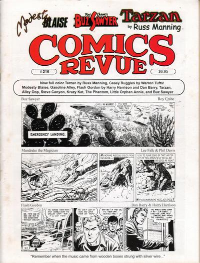 Cover for Comics Revue (Manuscript Press, 1985 series) #216