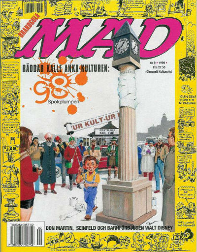 Cover for Svenska Mad (Atlantic Förlags AB, 1997 series) #2/1998