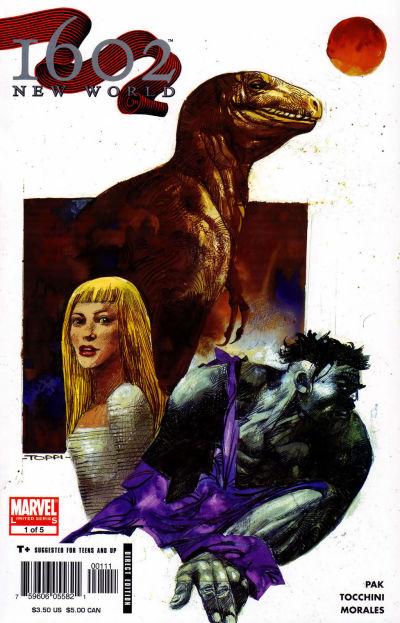 Cover for 1602: New World (Marvel, 2005 series) #1