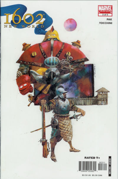 Cover for 1602: New World (Marvel, 2005 series) #3