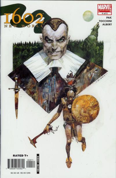 Cover for 1602: New World (Marvel, 2005 series) #4