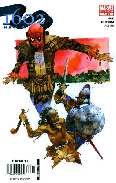 Cover for 1602: New World (Marvel, 2005 series) #5
