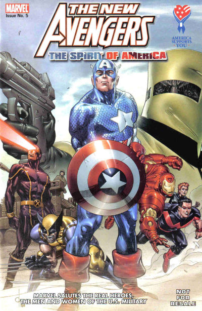 Cover for AAFES 5th Edition [New Avengers: The Spirit of America] (Marvel, 2007 series)