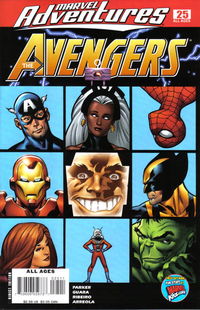Cover for Marvel Adventures The Avengers (Marvel, 2006 series) #25
