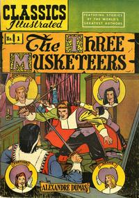Cover Thumbnail for Classics Illustrated (Gilberton, 1947 series) #1 [HRN 36] - The Three Musketeers