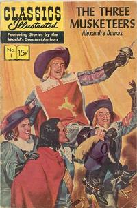 Cover Thumbnail for Classics Illustrated (Gilberton, 1947 series) #1 [HRN 150] - The Three Musketeers