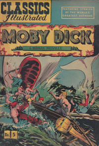 Cover Thumbnail for Classics Illustrated (Gilberton, 1947 series) #5 [HRN 36] - Moby Dick