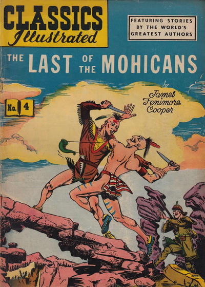 Cover for Classics Illustrated (Gilberton, 1947 series) #4 [HRN 135] - The Last of the Mohicans [Painted Cover]
