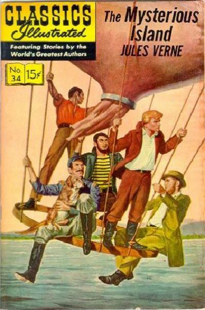 Cover for Classics Illustrated (Gilberton, 1947 series) #34 [HRN 60] - Mysterious Island