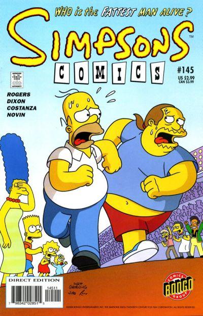 Cover for Simpsons Comics (Bongo, 1993 series) #145