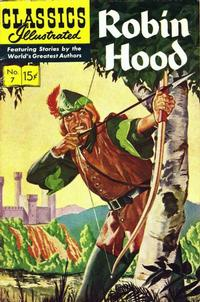 Cover Thumbnail for Classics Illustrated (Gilberton, 1947 series) #7 [HRN 51] - Robin Hood [Painted Cover]