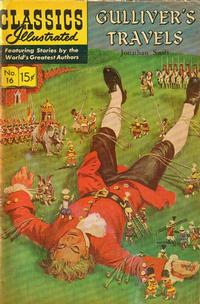 Cover Thumbnail for Classics Illustrated (Gilberton, 1947 series) #16 [HRN 155] - Gulliver's Travels [Painted Cover]