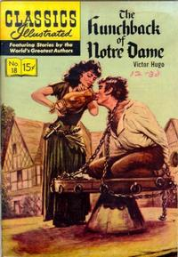 Cover Thumbnail for Classics Illustrated (Gilberton, 1947 series) #18 [HRN 140] - The Hunchback of Notre Dame [First Painted Cover]