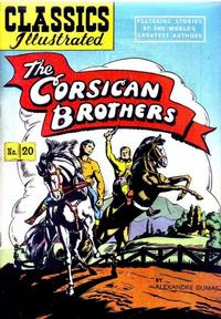 Cover for Classics Illustrated (Gilberton, 1947 series) #20 [HRN 60] - The Corsican Brothers