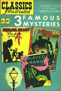 Cover Thumbnail for Classics Illustrated (Gilberton, 1947 series) #21 [HRN 62] - 3 Famous Mysteries