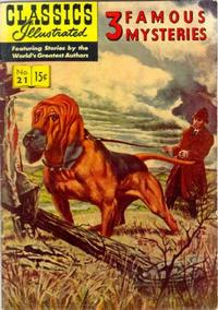 Cover Thumbnail for Classics Illustrated (Gilberton, 1947 series) #21 [HRN 114] - 3 Famous Mysteries