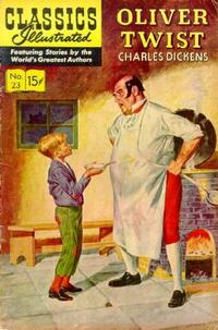 Cover for Classics Illustrated (Gilberton, 1947 series) #23 [HRN  164] - Oliver Twist