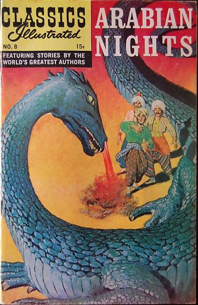 Cover for Classics Illustrated (Gilberton, 1947 series) #8 [HRN 164] - Arabian Nights