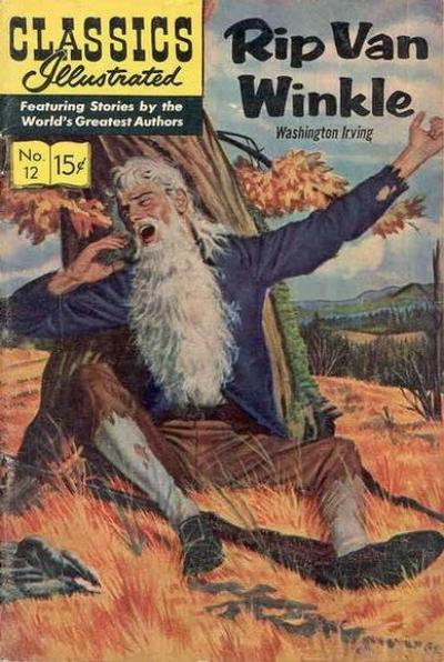 Cover for Classics Illustrated (Gilberton, 1947 series) #12 [HRN 150] - Rip Van Winkle