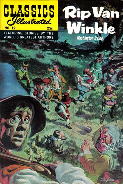 Cover for Classics Illustrated (Gilberton, 1947 series) #12 [HRN 166] - Rip Van Winkle